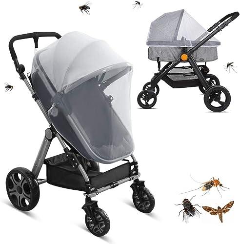 LEMESO Moustiquaire Poussette Universelle pour Landau, Auto-siège, Lit Parapluie, Protection Anti-insectes pour Bébés...