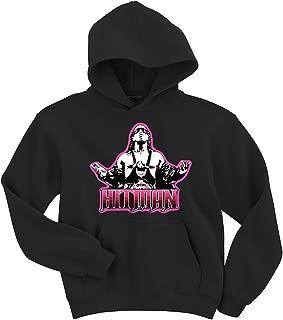 Shedd Shirts Black Bret Hart WWF Hooded Sweatshirt