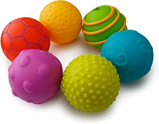 Playkidz Super Durable 6 Pack Sensory Balls, Soft & Textured Balls for Babies & Toddlers - Stress Relief Toy for Kids & Se...