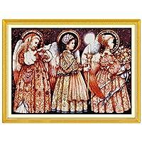 クリスマスイブの天使のパターンカウントクロスステッチ11CT 14CTクロスステッチクロスステッチキット刺繍刺繍を設定します。 Cross-Stitch (Cross Stitch Fabric CT number : 11CT picture printed)