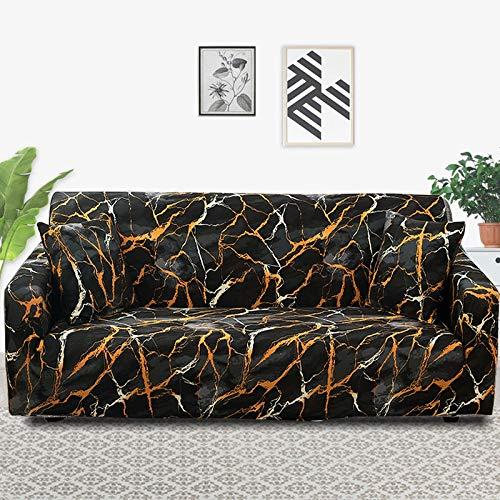 Funda de sofá con patrón de Costura geométrica y de Color, Utilizada para la Toalla del sofá de la Sala de Estar, Funda para Mascotas, Funda elástica para sofá A12 de 2 plazas