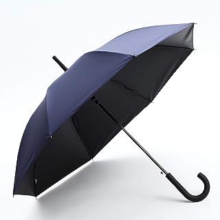 傘 メンズ 晴雨兼用 男性用 長傘 熱中症対策 完全遮光 100 UVカット 99.9% 遮熱効果 103cm グラスファイバー骨 ジャンプ傘 (FJ173/NV)