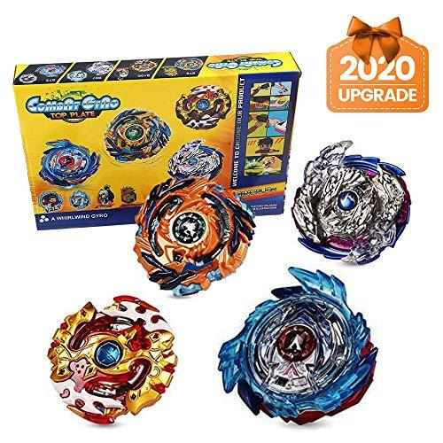 Innoo Tech 4 Stück Kampfkreisel Set, 4D Fusion Modell Metall Masters Beschleunigungslauncher, Speed Kreisel, tolles Kinder Spielzeug