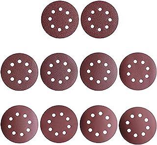 grain 60 grain 80 Grain mixte grain 120 grain 180 8 trous grain 240//disques abrasifs Grain 40 Lot de 80 feuilles de disques abrasifs Velcro//Haft pour ponceuse excentrique /Ø 125 mm