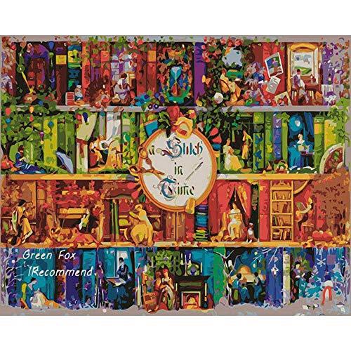 YSNMM Boeken Diy Schilderen Door Getallen Acryl Verf Door Getallen Handgeschilderde Olie Schilderen Op Canvas Home DÉCor