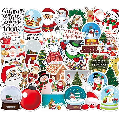 WYDML Pegatinas de Navidad equipaje pegatinas de Navidad escena decoración centro comercial tienda...