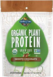 Garden of Life Organic Plant Protein Smooth Chocolate Powder, 10 Servings - Vegan, Grain Free & Gluten Free Plant Based Pr...