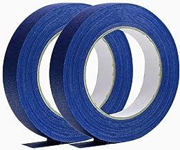 2 rollen blauwe afplaktape voor binnen en buiten, multifunctionele schildertape voor etiketten, spuitschilderprojecten, ve...