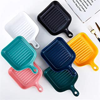 ERRWERFW Small Colored Rectangular Oven Dish Ideal for Lasagna Cakes casseroles Tapas (Color: Blue)