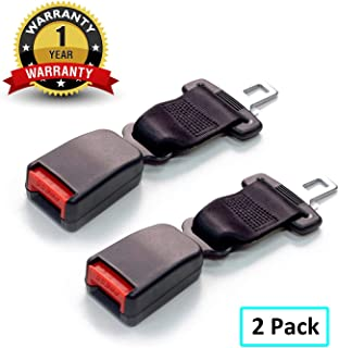 Seat Belt Extender-JAMfit 2 Packs Seat Belt Extension E11 Safety Certified (7/8'' Metal Tongue) - 8'' Retractable Seat Belt Extension