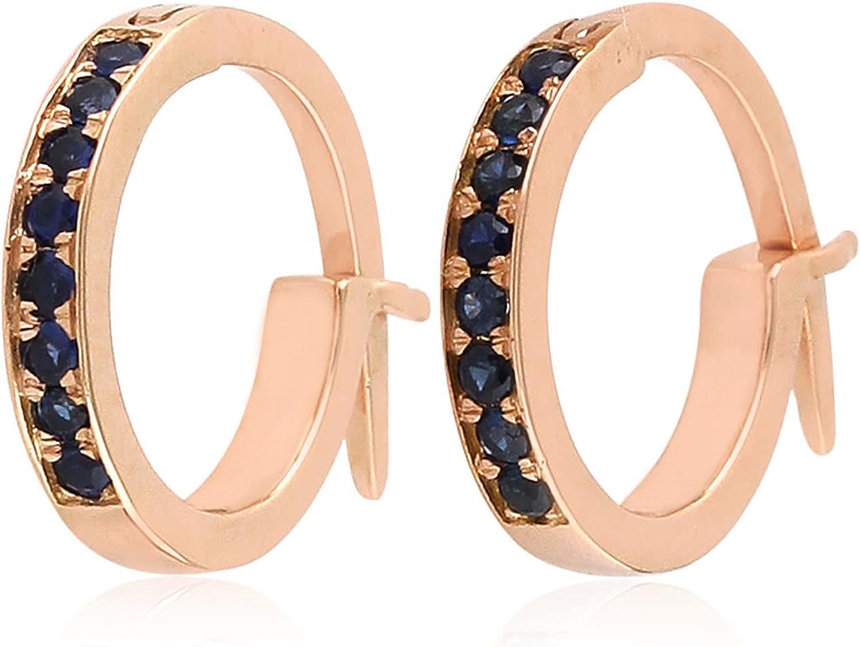 10k Gold Huggie Now on sale Earrings Industry No. 1 Gemstone Hoop Natural Diamond