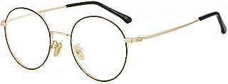 Cyxus(シクサズ)ブルーライトカットメガネ 度なし 透明レンズ PCメガネ 輻射防止 ファッション眼鏡 ステンレス お洒落 男女兼用