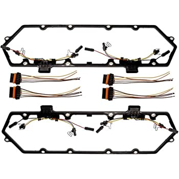 DARWENXY Valve Cover Gasket Injector Glow Plug Harness Pigtail Fit for 1997 to 2003 Ford 7.3L E350 F250 F350 Powerstroke F81Z-6584-AA