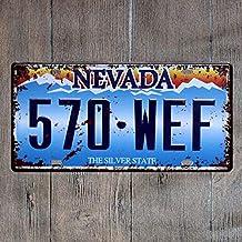 Aoforz Placas para autom/óviles Americanos n/úmero Placa de Licencia de EE.UU Placa de Garaje Metal esta/ño Signo Bar decoraci/ón Vintage hogar Decoraci/ón 15x30cm