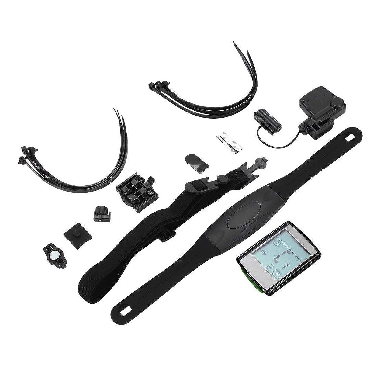 機転ゼリー型BC235プロフェッショナルワイヤレス多機能防水LCDディスプレイバイクコンピュータ走行距離計スピードメーター心拍数モニター (色:ローズレッド)(Rustle666)