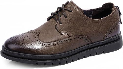 LEDLFIE zapatos De Cuero Retro Bullock Para hombres zapatos De Cuero Británicos Tallados