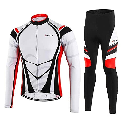 940d881d7 Lixada Men s Cycling Jersey Suit Winter Thermal Fleece Long Sleeve Mountain  Bike Road Bicycle Shirt Padded