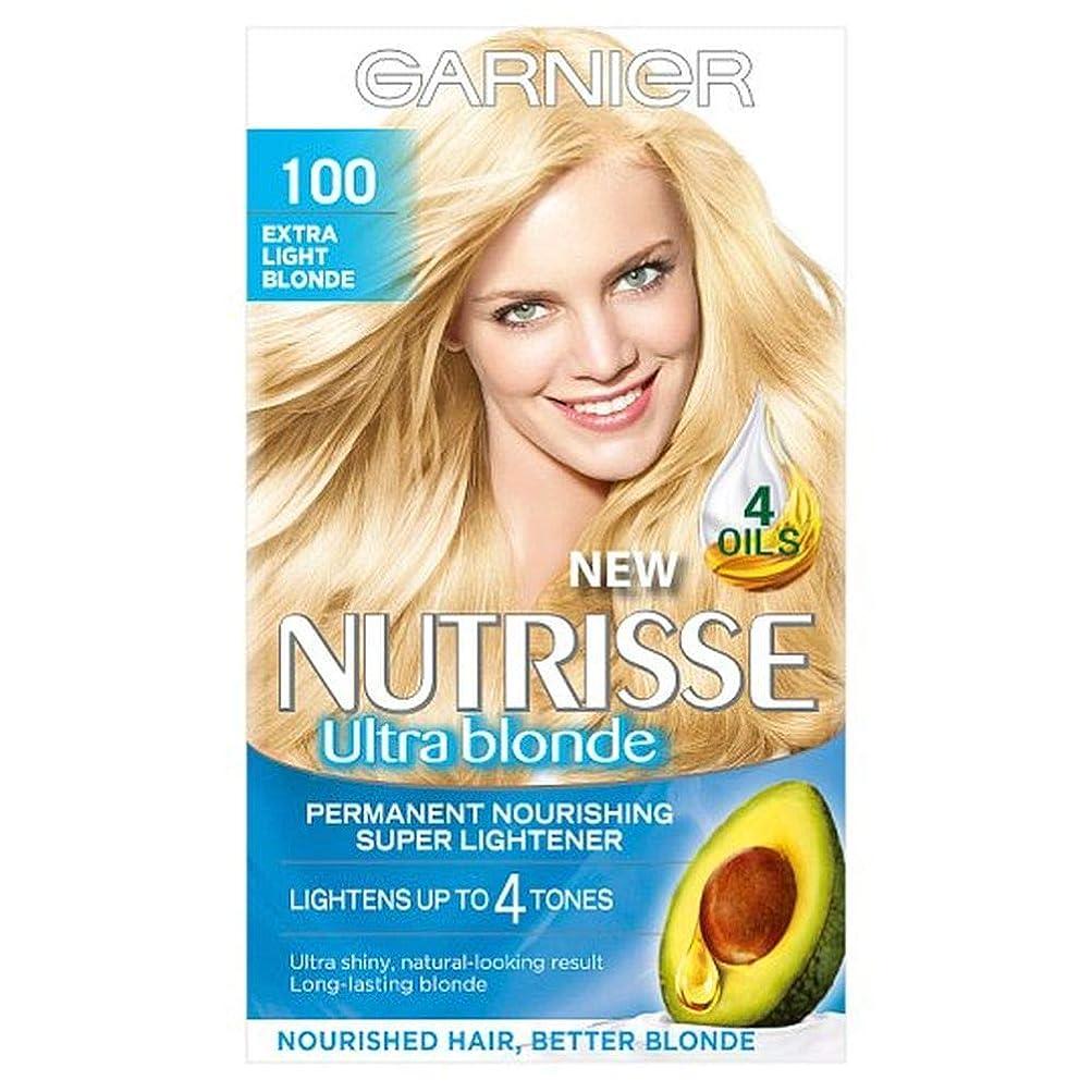 口ひげ乏しい故国[Nutrisse] 100余分な光ブロンドの永久染毛剤Nutrisseガルニエ - Garnier Nutrisse 100 Extra Light Blonde Permanent Hair Dye [並行輸入品]