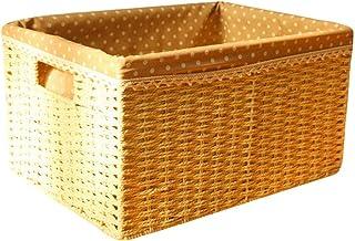 Panier à linge XINYALAMP Stockage Tissés à la Main tissé Uncovered Grande Paille tressée Stockage des ménages boxHousehold...