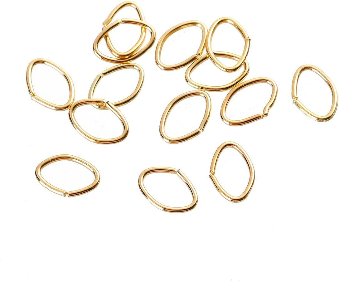 HDSupplies 1000 Pieces - 8x5mm Oval Jump Tone 20 Gold Rings Nashville-Davidson Max 56% OFF Mall
