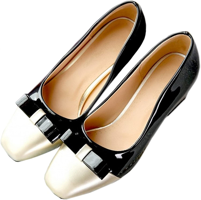 Small Square Last Chromatic color Fashionable shoes black 39