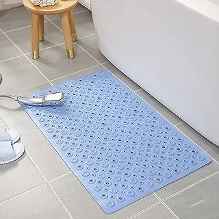 お風呂マット 滑り止め 浴槽すべり止めマット 浴槽マット 転倒防止 吸盤付き 変形しにくい 高齢者適 40×70cm (ブルー)