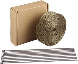 بسته بندی اگزوز HM&FC تیتانیوم 50 فوت (L) * 2 اینچ (W) * 0.06 اینچ (T)
