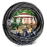 Eterbiz Système de brumisation, Kits d'irrigation, Automatique Réglable pour Trampoline de Serre pour Waterpark(10M)