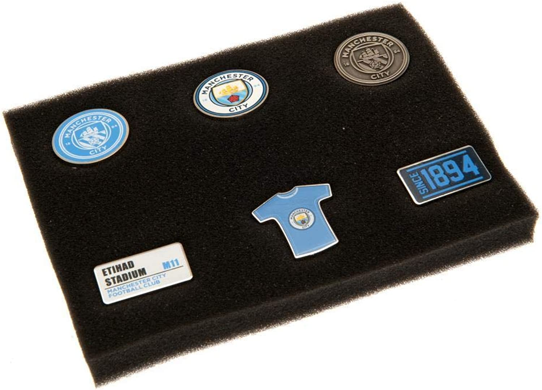 Manchester City FC Official 6 Piece Badge Set