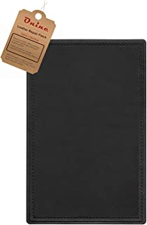 Leather Repair Patch Self-Adhesive Couch Patch Emboss Leather 5X8 inch for Sofas, Car Seats, Handbags, First Aid Patch(Black)