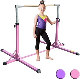 XTEK Gym Pro Gymnastics Bar - Adjustable Height Kip Bar with Added Stability, Premium Gymnastics Equipment Home Training - Gymnastic Bar