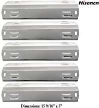 Hisencn (5-Pack Stainless Steel Gas Grill Heat Shield Plate Heat Tent Shield Deflector Replacement Parts for Dyna-Glo DGA480, DGA550, DGA480ssn, DGA480ssp, Master Forge MFA480, 550 Gas Grill Models