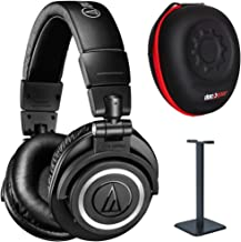 Audio-Technica ATH-M50xBT Wireless Bluetooth Over Ear Headphones + Hard Case & Headphone Stand