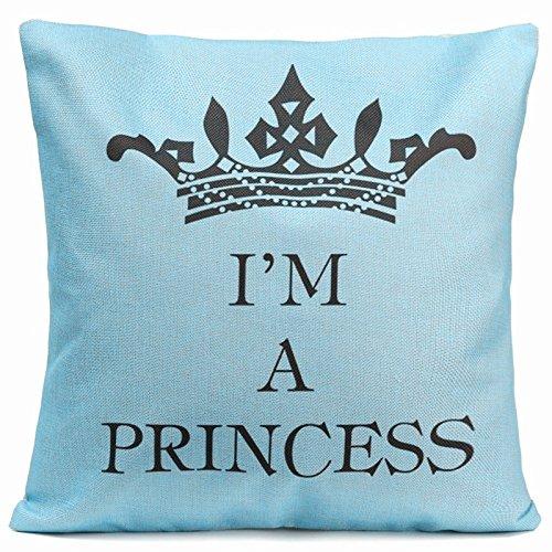Acelive motivación inspiracional Cotton Linen Home manta decorativa Funda de almohada Funda de cojín con palabras para sofá recámara sala de estar cuadrado regalo de día...