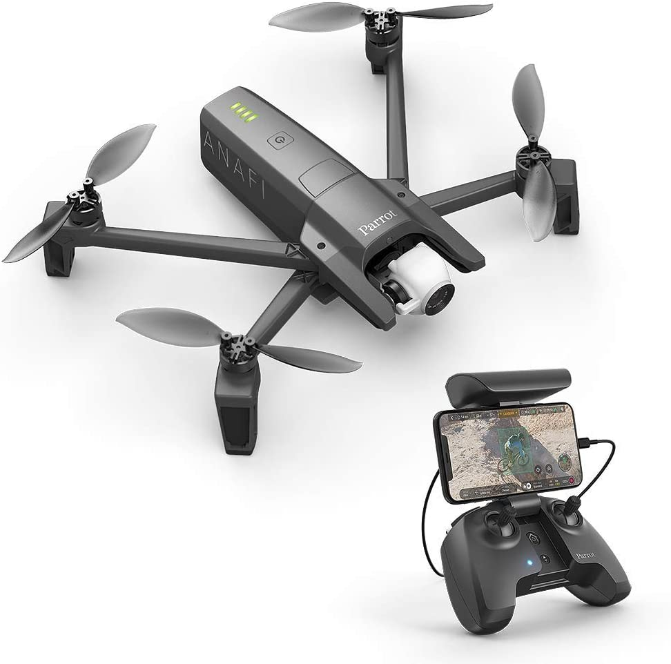 Parrot PF728000 Anafi Drone, Foldable Quadcopter Drone with 4K HDR Camera, Compact, Silent & Autonomous, Realize Your shots with A...