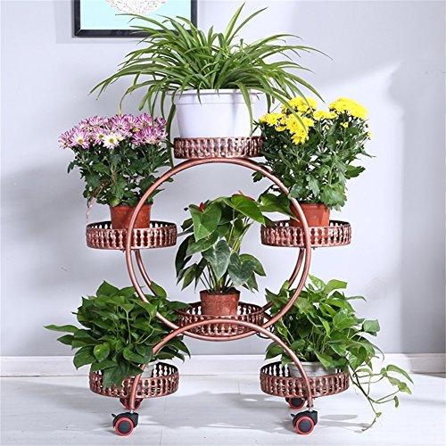 Support de fleur amovible de fer Assemblée européenne Bonsai cadre balcon salon intérieur