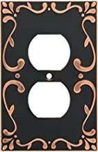 Franklin Brass W35071-VBC-C Classic Lace Single Duplex Wall Switch Plate/Cover, Bronze With Copper Highlights