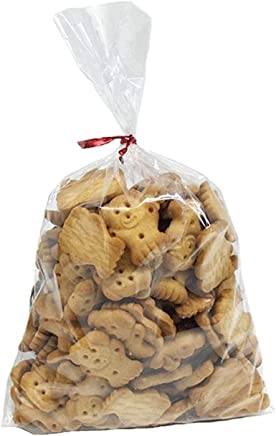 100 Pcs 10 in x 6 in Clear Flat Cello Cellophane Treat Bags Good for Bakery,  Cookies,  Candies , Dessert(by Brandon)1.4mil.Give Metallic Twist Ties!