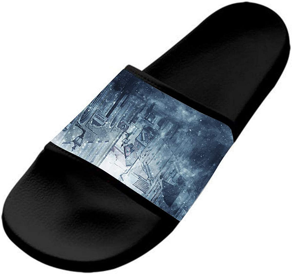 Pedestrians in The Snow Casual and Stylish Sports Slippers for Kids are Flat and Comfortable