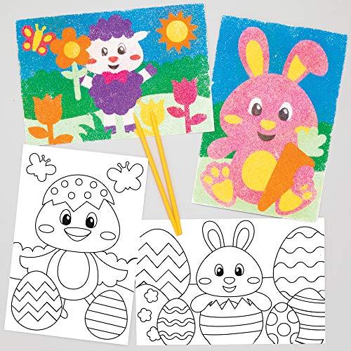Baker Ross zestaw do majsterkowania dla dzieci (8 sztuk) kreatywny zestaw do majsterkowania, dekoracji i prezentowania na wiosnę