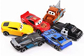 Cars Toy Set Exclusive Deluxe Cars 6 Piece Squeeze Toy Set Gift for Kids