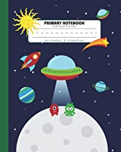 Primary Notebook Handwriting Practice Paper: Kindergarten to Early Childhood Composition (Exercise) Book   120 Dashed Midline Pages   Green (Outer Space Astronomy Series)