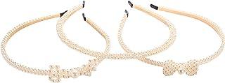 3 Pieces pearl Hair Hoops Headband, Hair Hoop Headwear Hair Accessories for Women.(LDZ46)