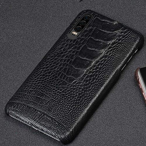 HAFJFKA Funda del teléfono Funda de Cuero para Celular Huawei P30 P20 Mate 20 30 Lite Pro Y9 Y6 contraportada para Honor 10i 20i 20 Pro v20 8X, Negro, para Huawei P20
