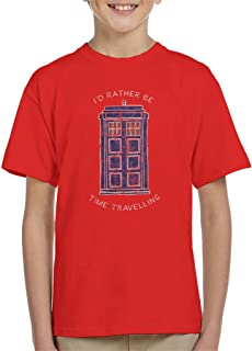 Id Rather Be Time Travelling White Text Kid's T-Shirt