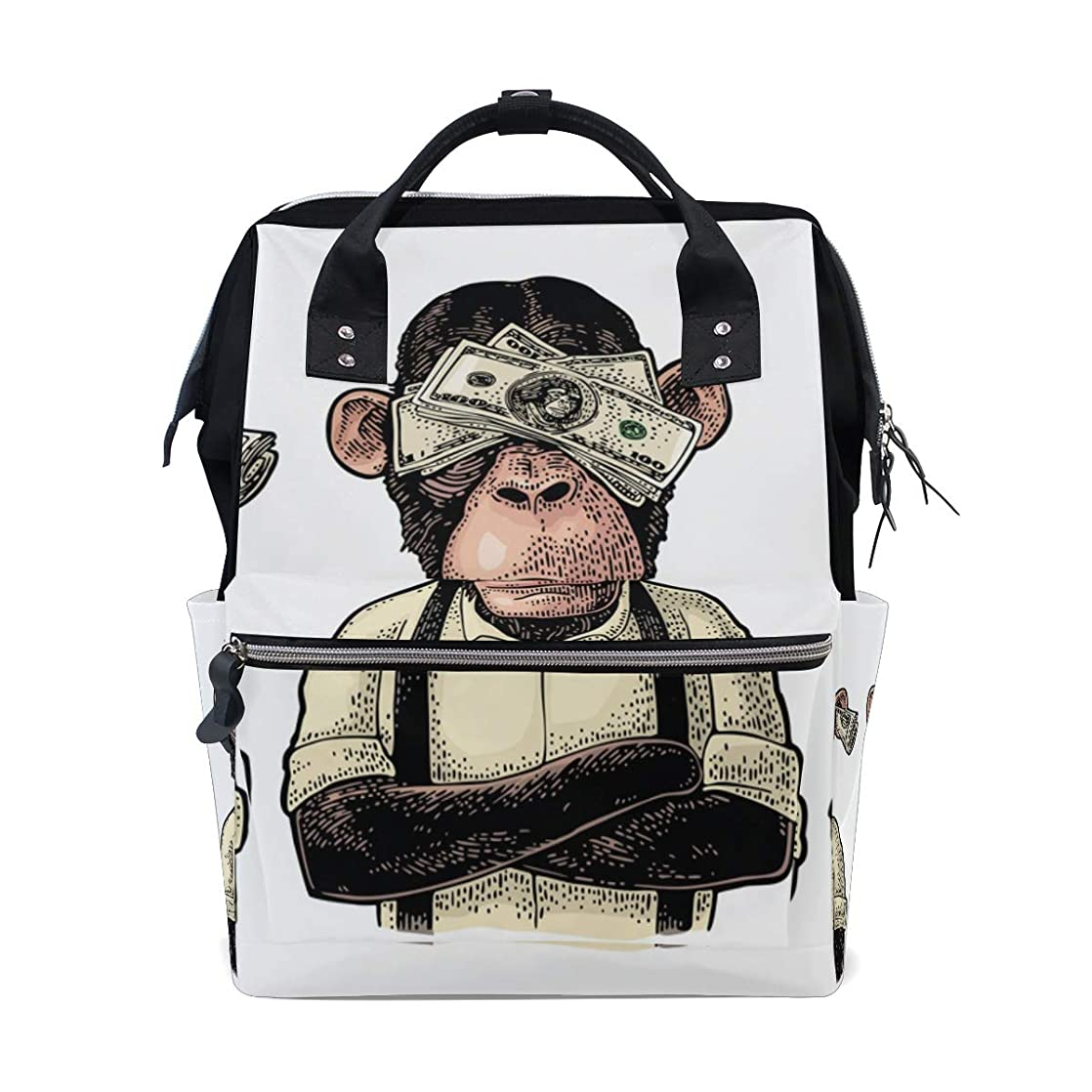 Funny Monkey School Backpack Large Capacity Mummy Bags Laptop Handbag Casual Travel Rucksack Satchel For Women Men Adult Teen Children cjdkveyj50618