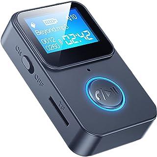 KESOTO Mini adaptador Bluetooth 5.0 display LCD MP3 Music Player 3,5 mm e porta tipo C Receptor de áudio sem fio para TV P...