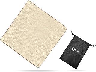 CARBABY 焚き火シート スパッタシート 耐火 耐熱 防炎 溶接 ガラス繊維 薪ストーブ バーベキューコンロ 瞬間使用温度:1500℃まで サイズ: 45x45cm 収納袋付