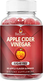Apple Cider Vinegar Gummies - Sugar Free, Gluten Free, No Glucose Syrup, Gummy Alternative to Capsules & Dr...