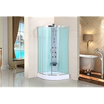 Cabina de ducha de Clara de cristal de seguridad/Real ducha de ...
